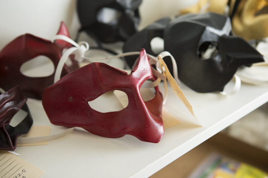 Red Viennese mask